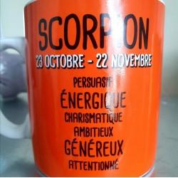 Bougie zodiaque Scorpion tiaré